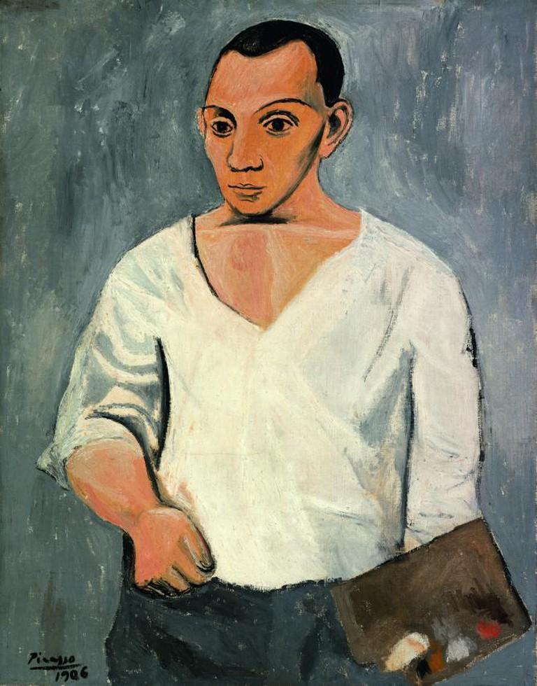 Pablo Picasso, Autorretrato con paleta, 1906