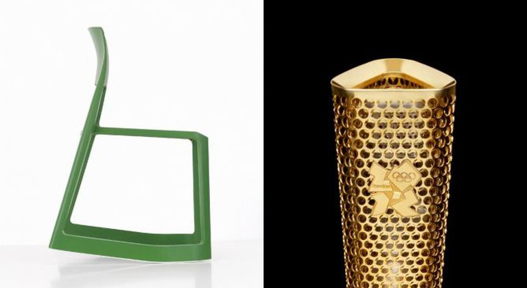 Tip Ton Chair & 2012 Olympic Torch | Courtesy of Edward Barber & Jay Osgerby