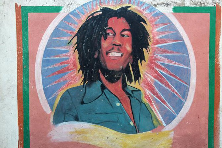 Bob Marley Mural in Trench Town, Kingston Jamaica