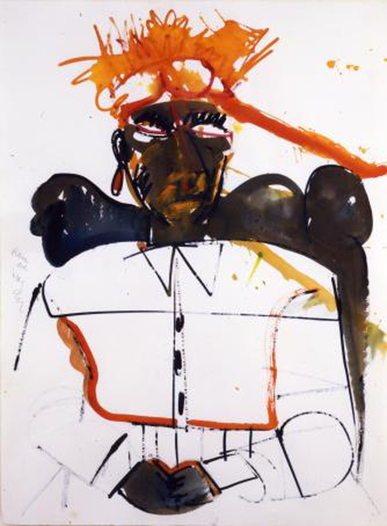 Bearden, Obeah of High Category, 1984, Watercolor on paper, 30.25 x 22.25 inches
