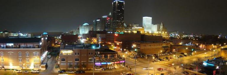 Oklahoma City Skyline From Bricktown Parking Garage
