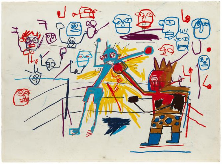 Jean Michel Basquiat - Untitled (Boxing Ring) (1981)