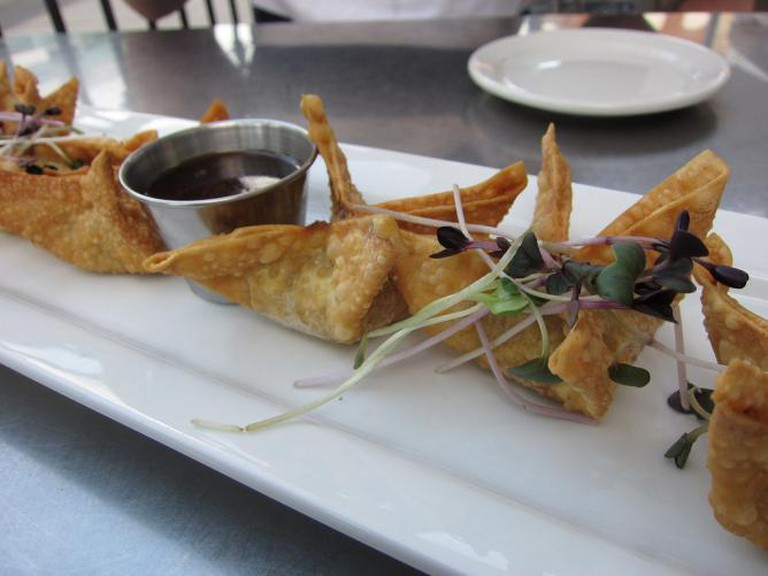 Elk Wonton Appetiser at Atlas | Photo by Alan Light