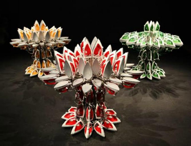 Joana Vasconcelos, Full Steam Ahead (red #1), (green #1), (yellow #1), 2012, 2013, 2014