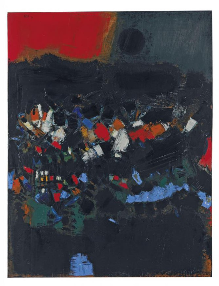 Syed Haider Raza, Paysage, oil on canvas, 1960, © Christie's Images