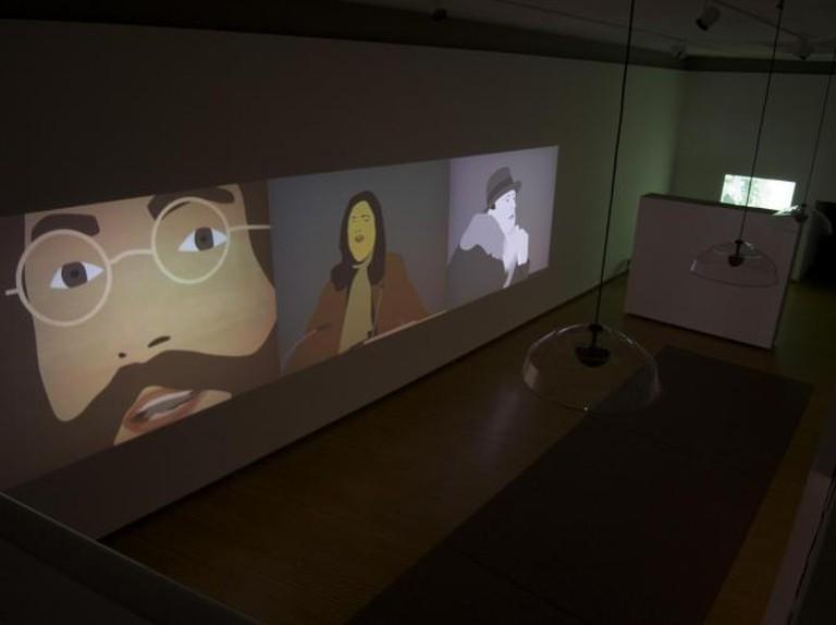 Kota Ezawa, 'Lennon, Sontag, Beuys' | Courtesy of Prichard Art Gallery