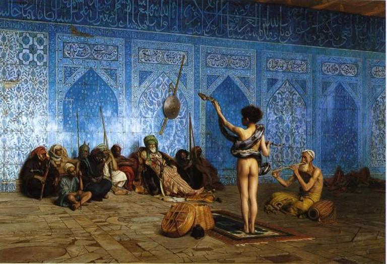 Jean-Leon Gerome's The Snake Charmer (1870), an Orientalist portrayal of pederasty