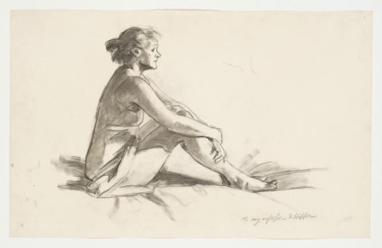 Edward Hopper, 1882-1967, Study for Morning Sun, 1952, Fabricated chalk on paper, 11 15/16 x 18 15/16 in. (30.3 x 48.1 cm), Whitney Museum of American Art, New York; Josephine N. Hopper Bequest © Heirs of Josephine N. Hopper, licensed by Whitney Museum of American Art, N.Y.