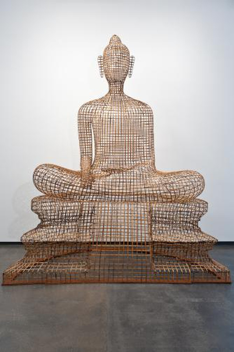 Sopheap Pich, 'Seated Buddha', 2011, rattan, bamboo, wire, plywood, 256 × 220 × 110 cm