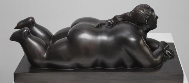 Fernando Botero, Donna Sdraiata, Bronze, 60 x 23.5 x 25 cm, Rosenbaum Contemporary, 2007