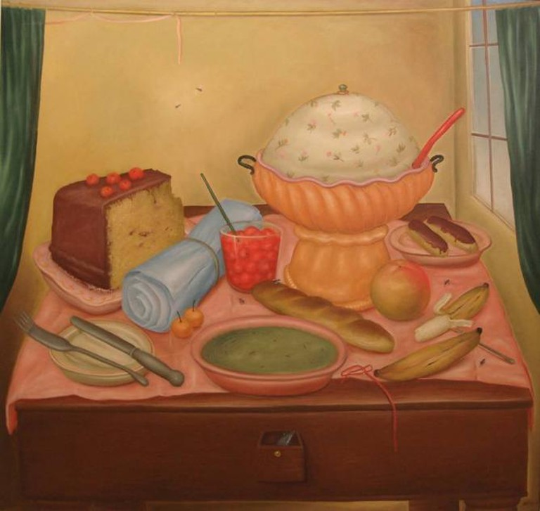 Fernando Botero, Bodegon con sopa de arvejas