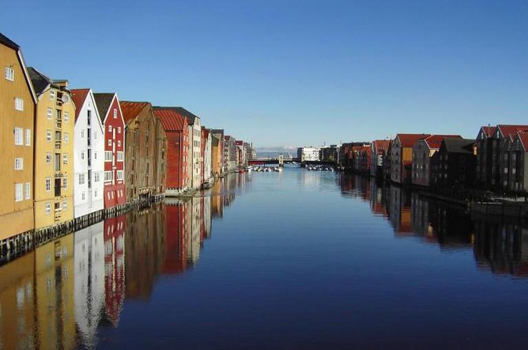 Trondheim Houses Landscape