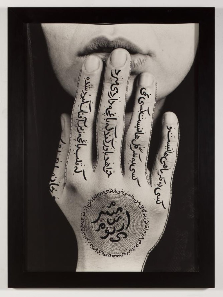 Untitled, 1996, RC print & ink, Shirin Neshat.