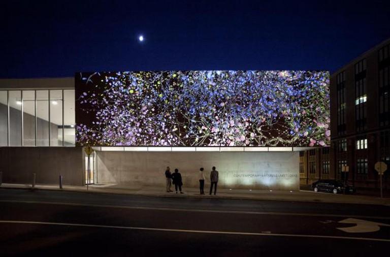 Jennifer Steinkamp, Orbit, installation view, Contemporary Art Museum St Louis, 2013 | Photo by Jennifer Steinkamp