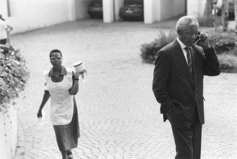 George Hallett photo of Nelson Mandela