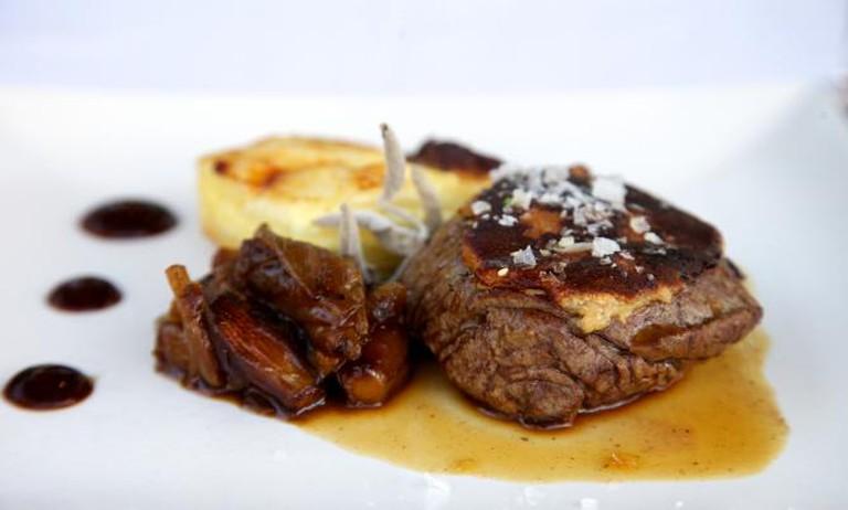 The restaurant's signature dish: solomillo