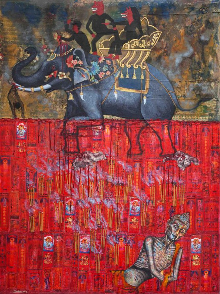 Leang Seckon 'The Elephant and the Pond of Blood'