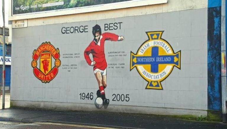 George Best Mural