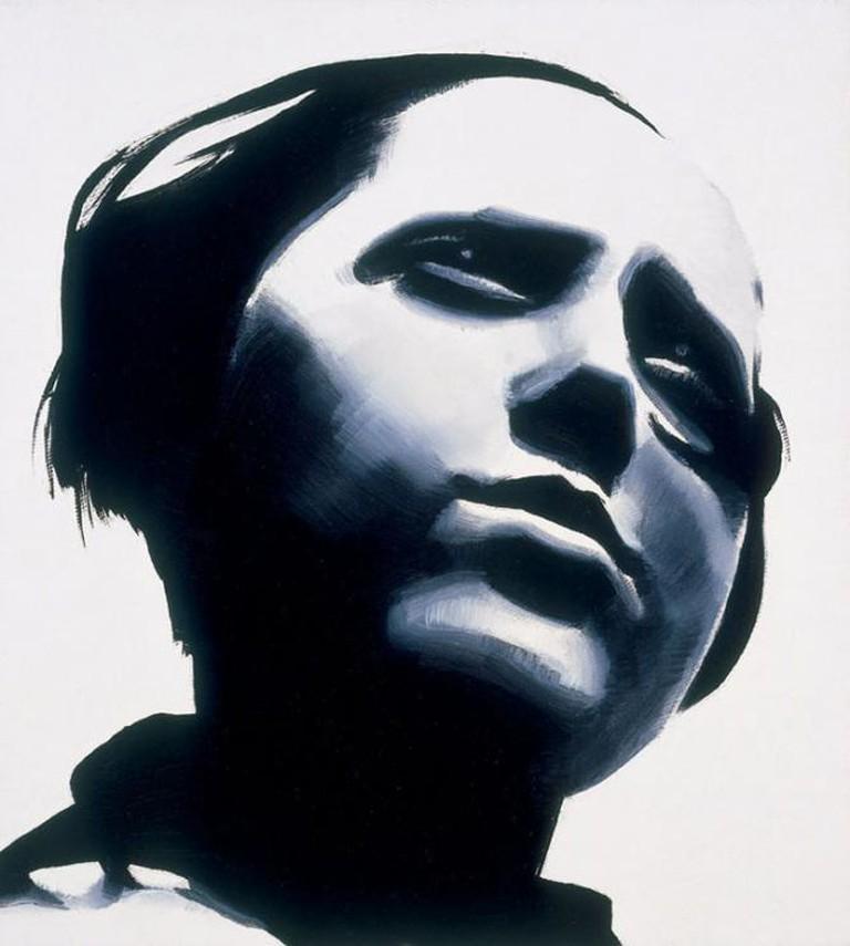 Wilhelm Sasnal, Portrait of Rodchenko, Lady, 30 x 30 cm, 2002