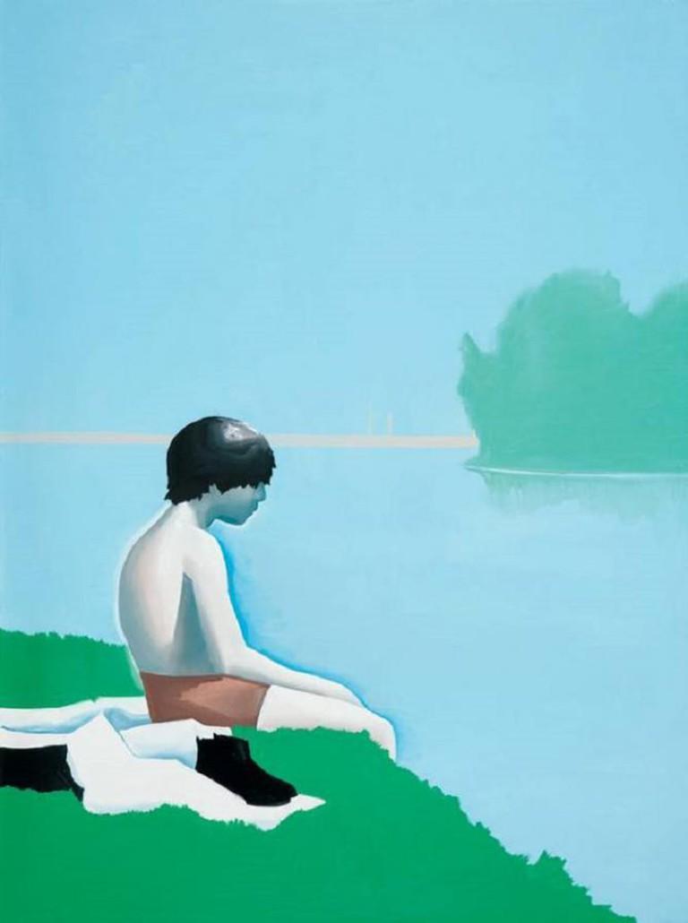 Wilhelm Sasnal, Bathers at Asniers, 160 x 120 cm, 2010