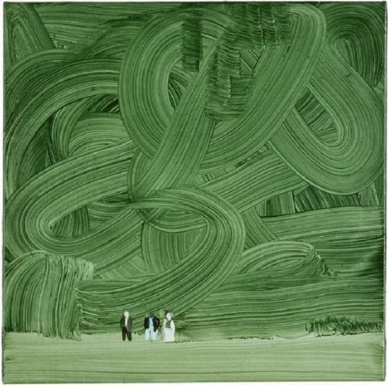 Wilhelm Sasnal, Shoah (Forest), 45 x 45 cm, 2003