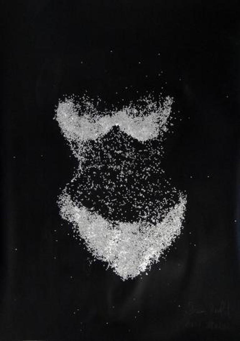 Jean-Paul Guiragossian, Oriental Dancer, 2014, Mixed Media on Black Paper, 102 x 72 cm