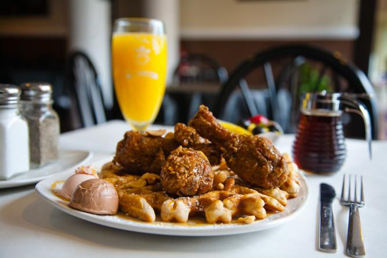 Dame's Light Brown Leghorn, Dame's Chicken & Waffles