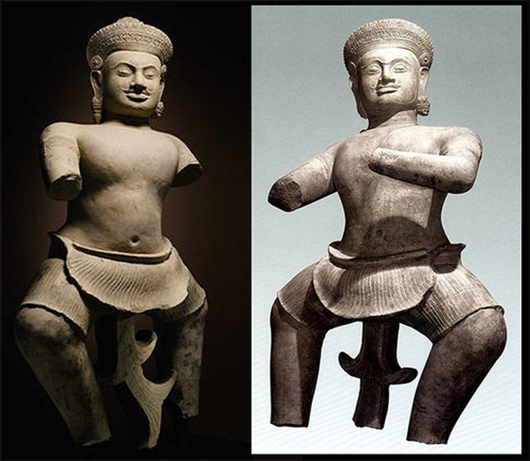 Koh Ker Statues Recently Returned To Cambodia   Courtesy Sotheby's