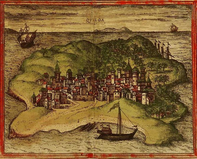 Map of Kilwa | © Georg Braun and Franz Hogenberg (1527)