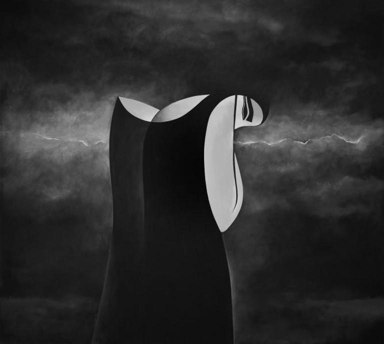Safwan Dahoul, Dream 77, 2014, acrylic on canvas, 180 X 200 cm