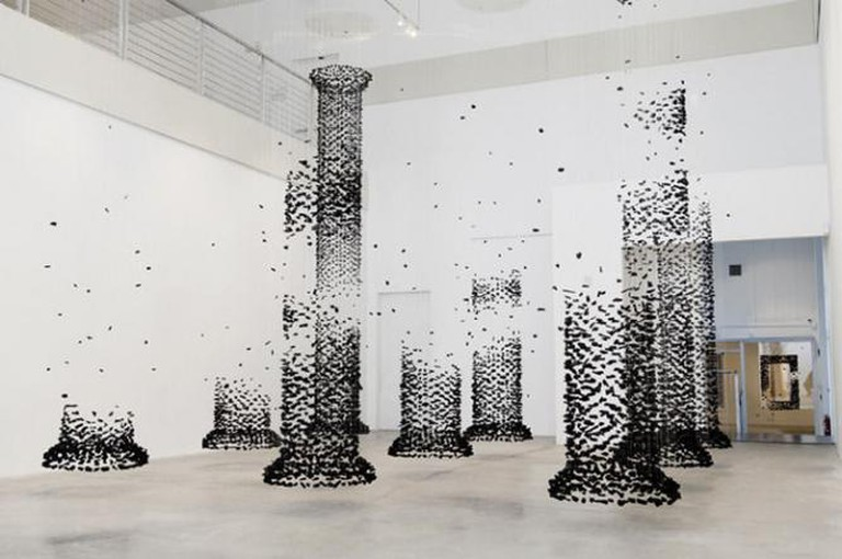 An Aggregation 20140101 - column, 2014 by Seon-Ghi Bahk I Image Courtesy of Zadok Gallery