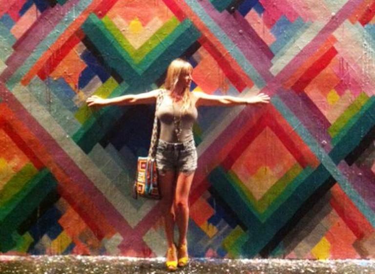 "Street Artist Maya Hayuk for ""Women on the Walls"" I Image Courtesy of Audra Clemons"