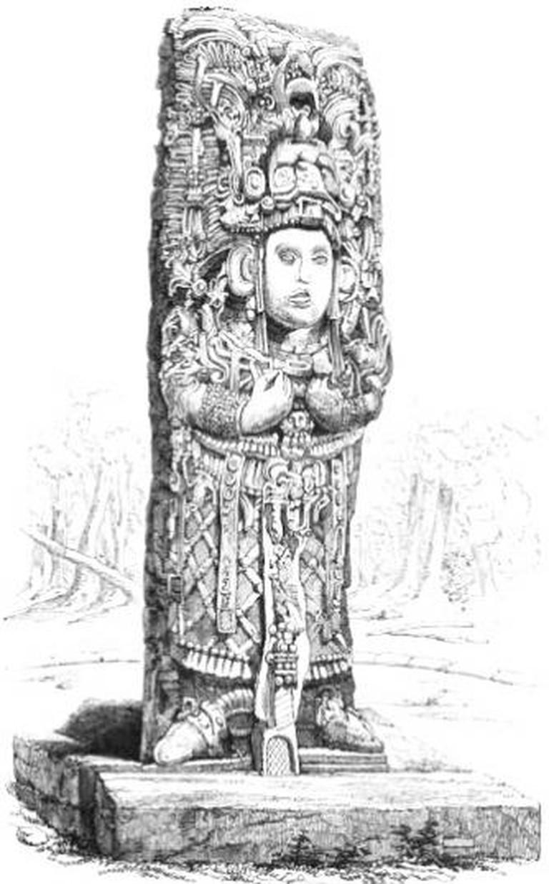 Stone Idol at Chichen Itza © Wikipedia Commons