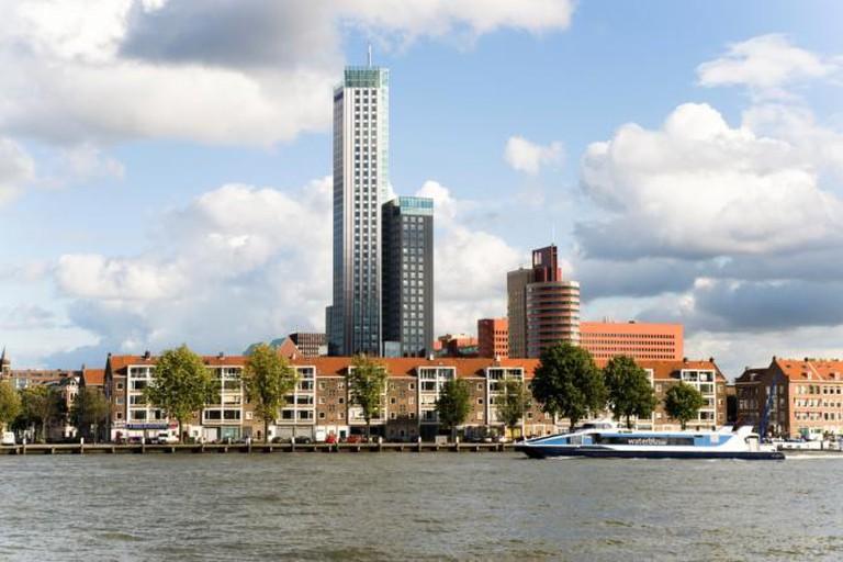 Maastoren from the river