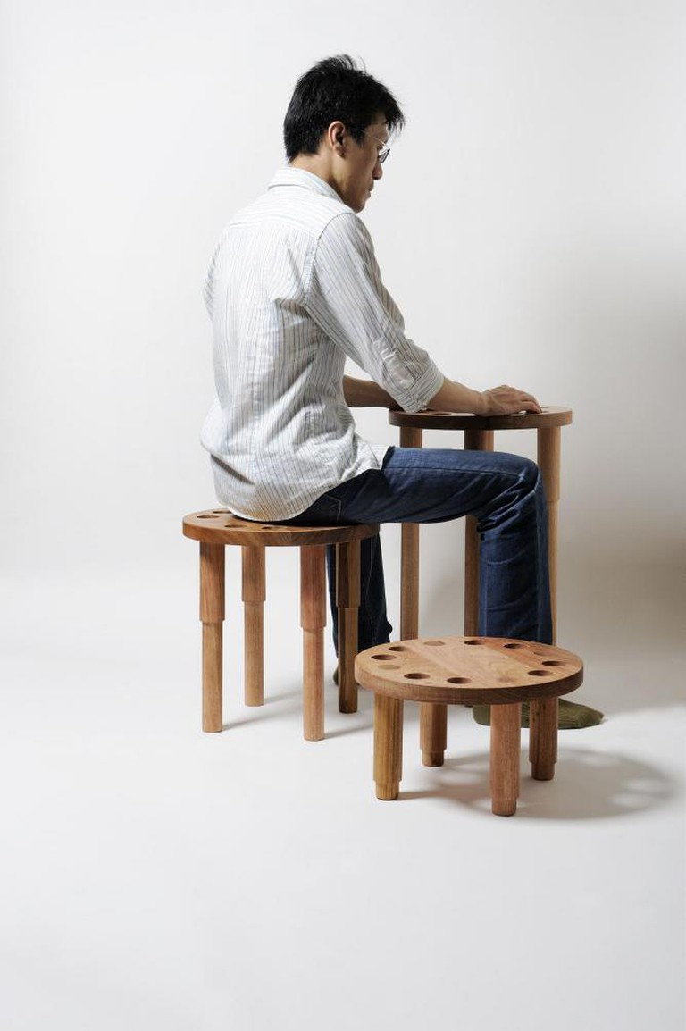 The multi-functional Stack Stool by Homer Concept — display table | Image Courtesy of Homer Concept