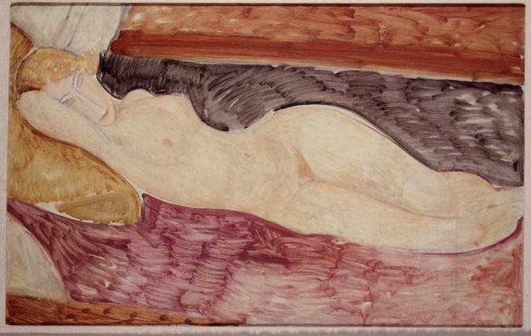 Amedeo Modigliani, Nudo sdraiato, 1918-1919, oil on canvas, cm 76x116, 1962, acquired from Marlborough Gallery | Courtesy Galleria Nazionale d'Arte Moderna