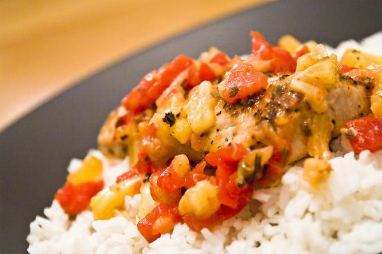Lemon Pepper Mahi Mahi with Pineapple Salsa