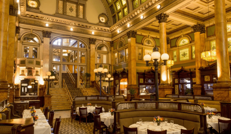The restaurant's stately interior | Courtesy Grand Concourse