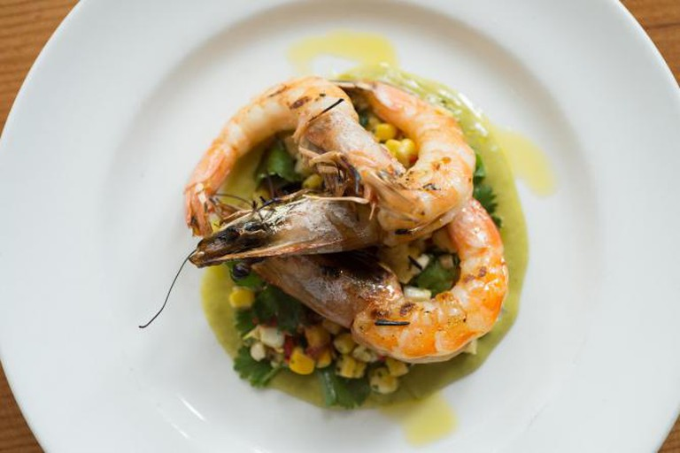 Shrimp & Corn Special | © The Kitchen Boulder