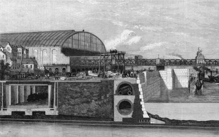 Section through Victoria Embankment