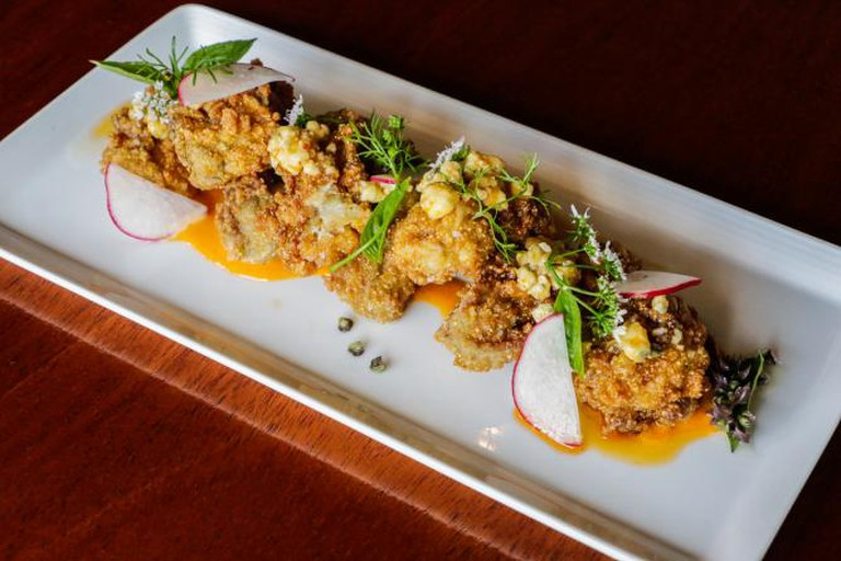 Fried Oyster Appetizer from MoPho
