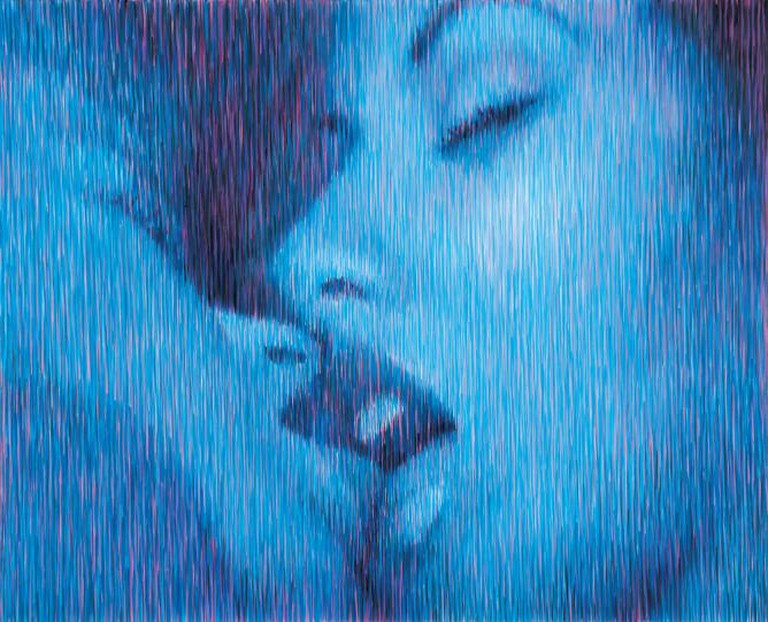 Ritums Ivanovs, Erotic Movie, Frame 05, 150×180 cm, acrylic, canvas, 2002