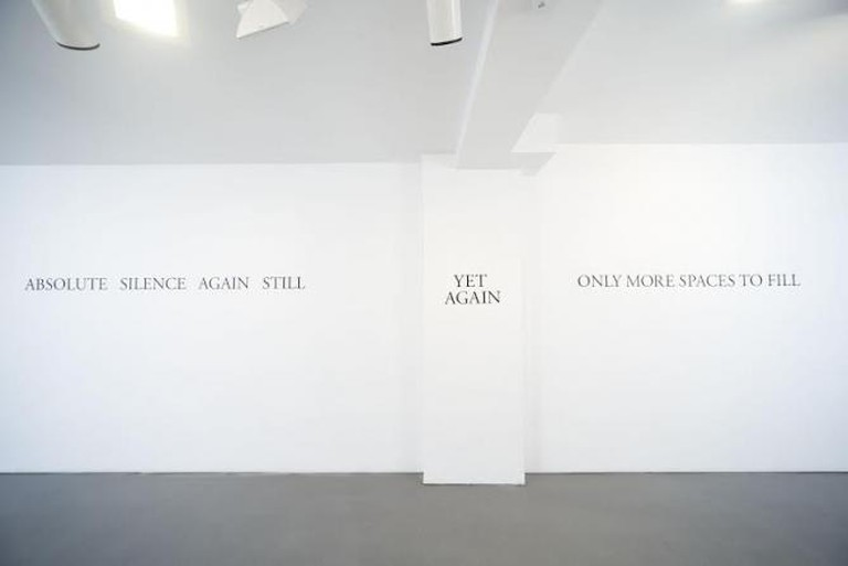 Ayesha Jatoi, More Silence, installation view, Sabrina Amrani Gallery, 2013