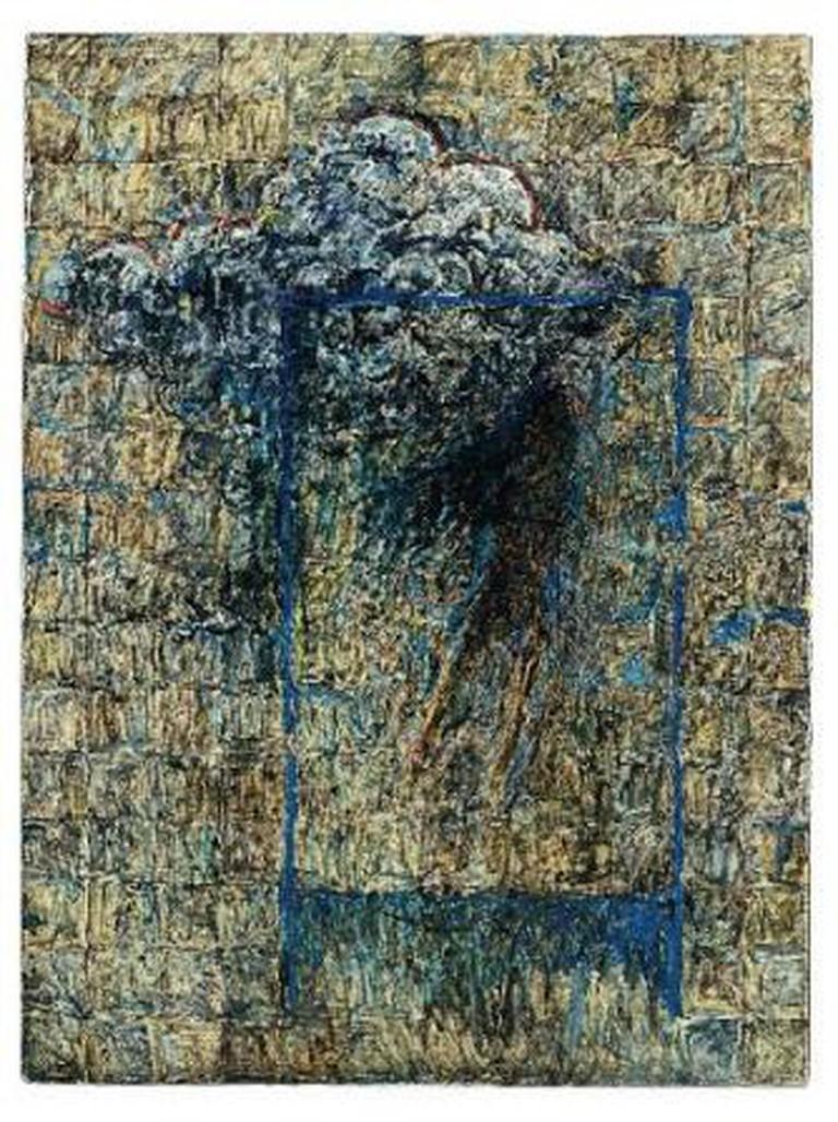Zahoor ul Akhlaq, Untitled, acrylic on wood, 121.9 x 91.4 cm, Artchowk, 1982