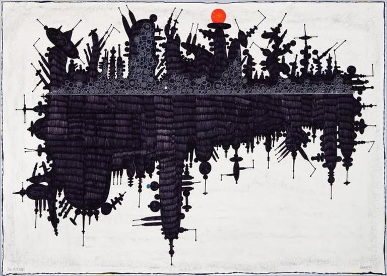 Shifting States – Oil Spill, 2011 by Luis Cruz Azaceta