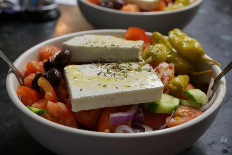 A signature dish at Taverna Kyclades