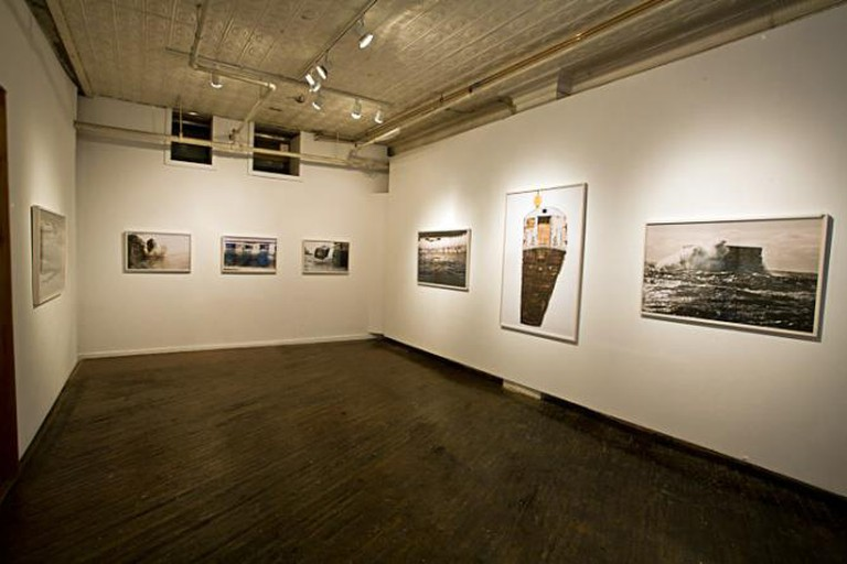 Installation view of Stephen Mallon's 'Next Stop Atlantic' Series
