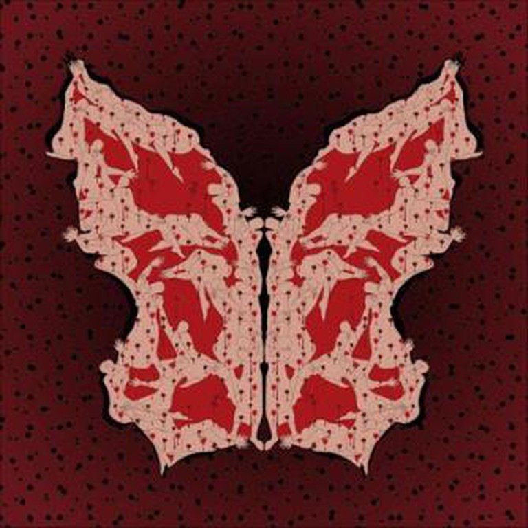 """Parastou Forouhar, Asura Day from the """"Papillon Collection"""", 2010, digital print on Epson glossy photo paper, 100 x 100 cm, edition of 7,"""