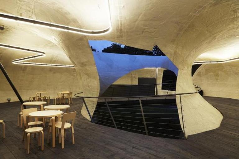 Serpentine Gallery Pavilion 2014, designed by Smiljan Radić