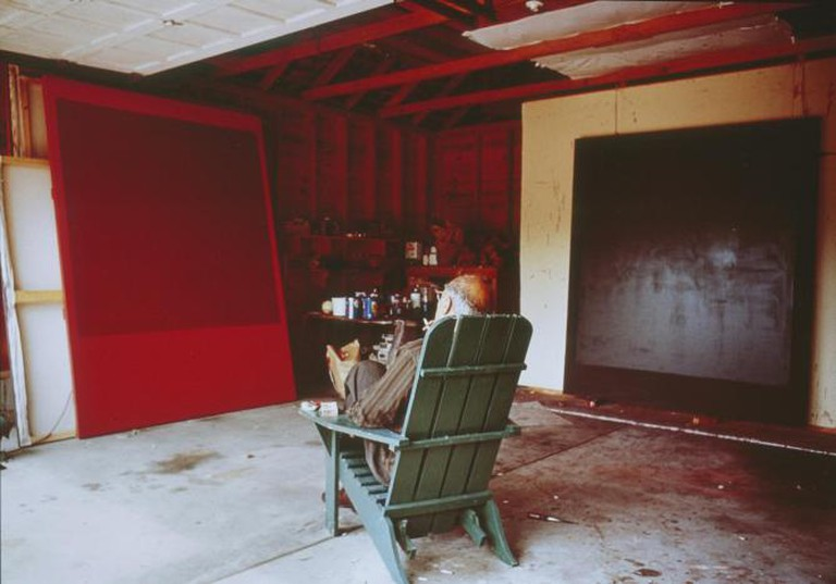 Mark Rothko in his studio, 1964, cibachrome
